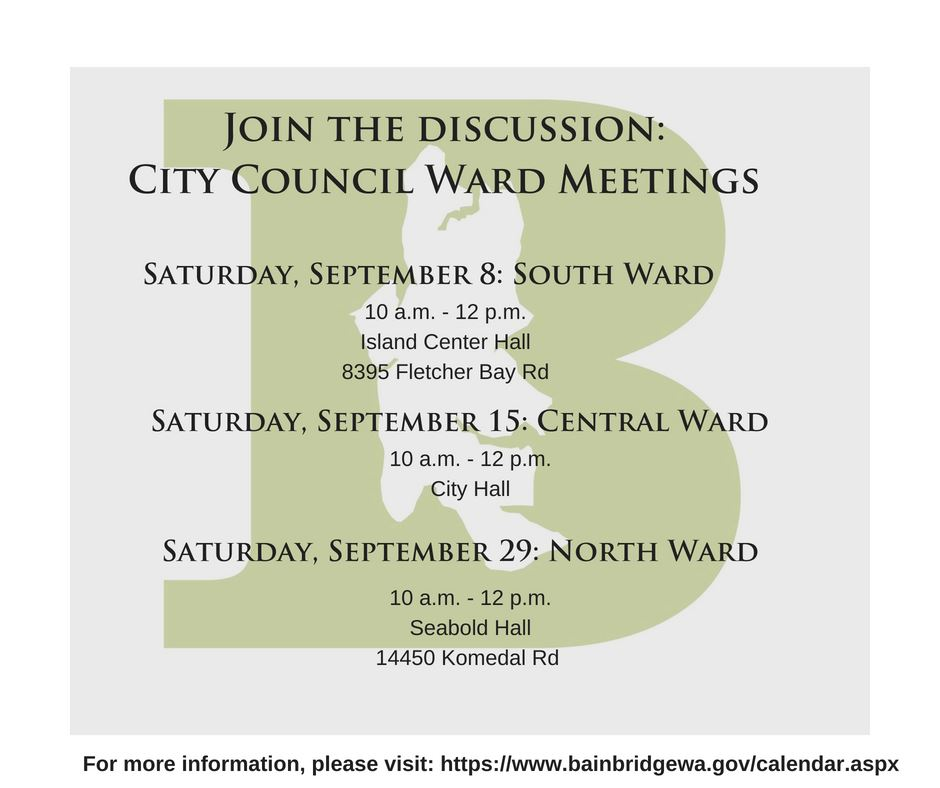 September Ward Meetings