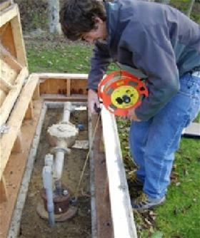 Man Assessing Groundwater
