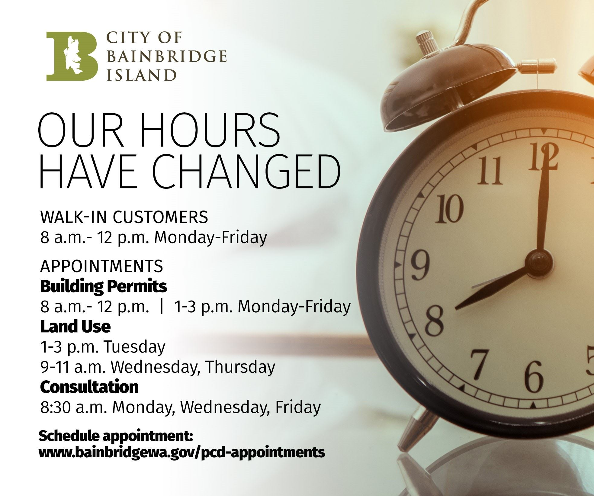 PCD New Hours Opens in new window