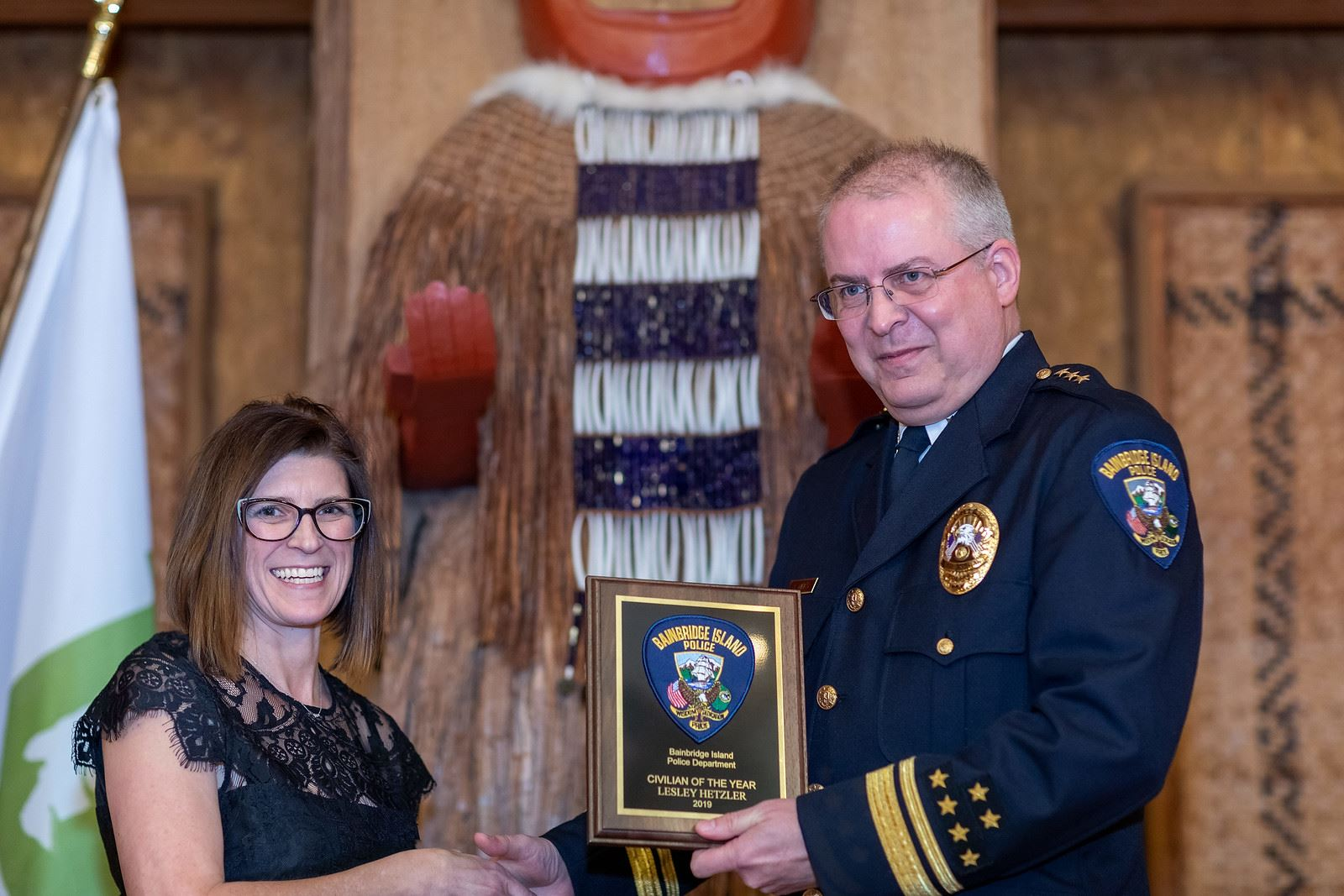 Senior Police Clerk Lesley Hetzler, Civilian of the Year 2019 (Photo Credit Debbie Gilman Photograph